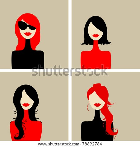 fashion woman portrait for your