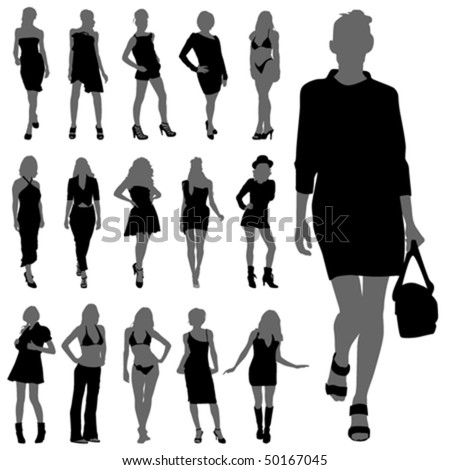 Fashion Woman Silhouettes