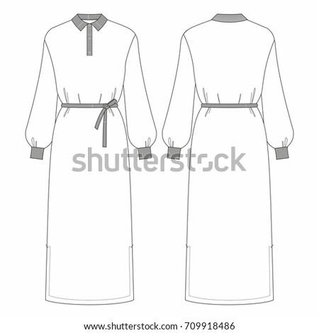 fashion women longsleeve dress