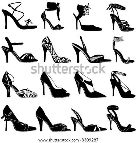 shoes for women. fashion women shoes vector