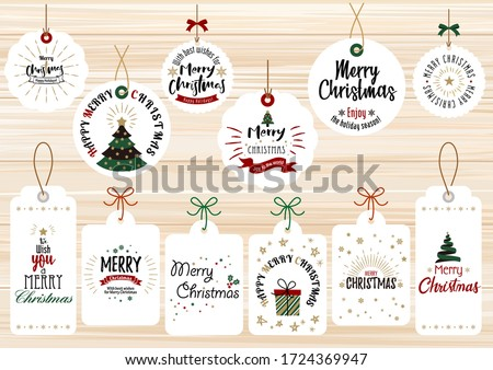 Fashionable and simple Christmas card set