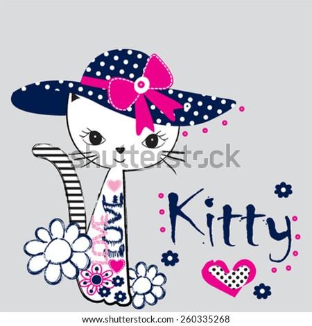 fashionable cat  t shirt design