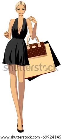 fashionable city woman