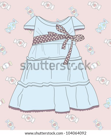 fashionable dress for the girl