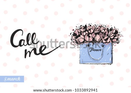 fashionable flowers bag with