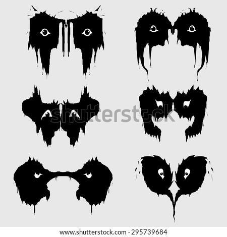 fashionable logos scary eyes on