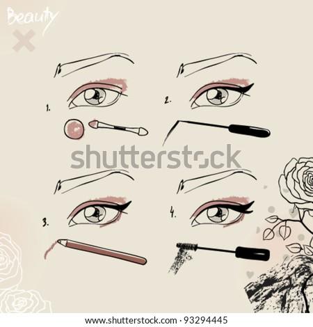 fashionable make up and