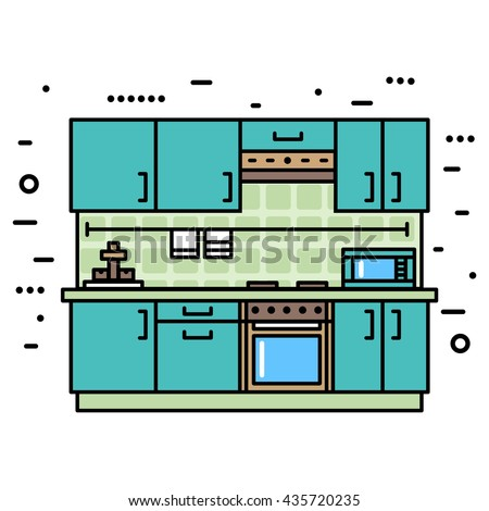 fashionable  modern kitchen