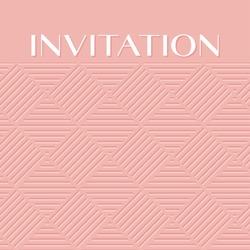 fashionable pale rose color light 3d geometric pattern