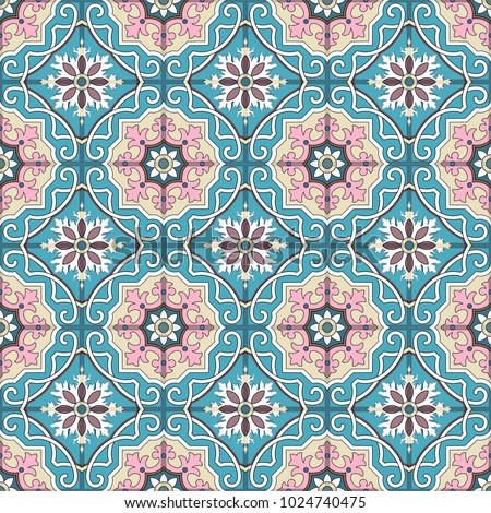 Fashionable pattern in the Arab style, seamless background, arabesque vector.