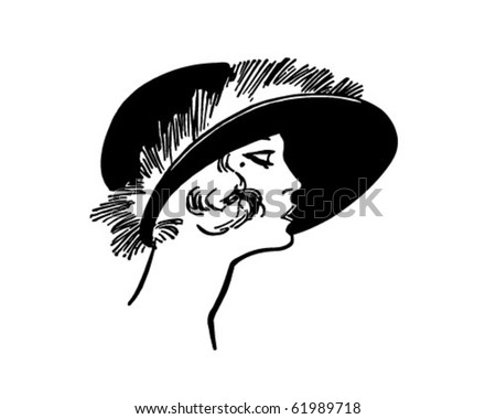 Fashionable Twenties Lady - Retro Clipart - stock vector