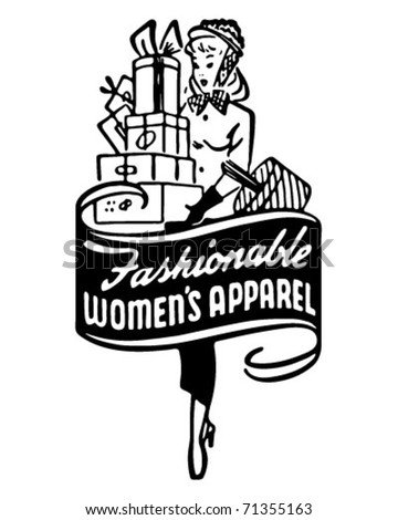 Fashionable Women's Apparel 2 - Retro Ad Art Banner