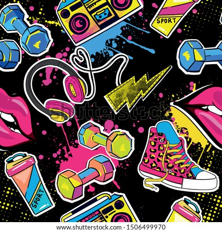 fashionable youth pattern with