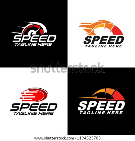 Fast and Speed set logo template vector