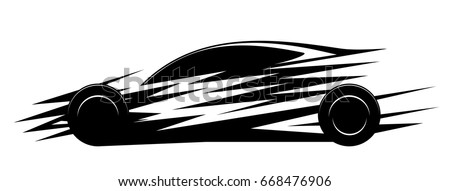 fast car silhouette  sports