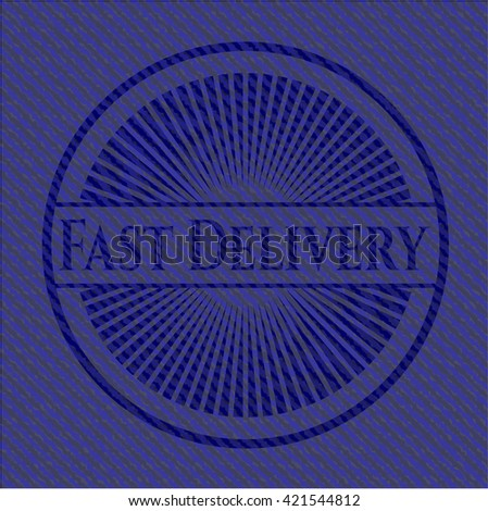 Fast Delivery badge with jean texture