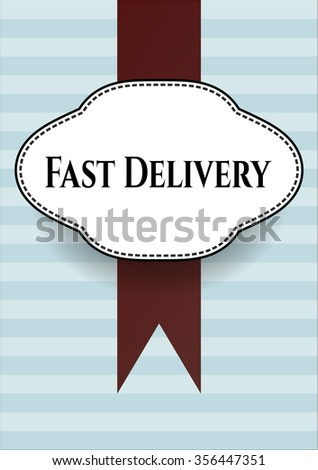 Fast Delivery card or poster