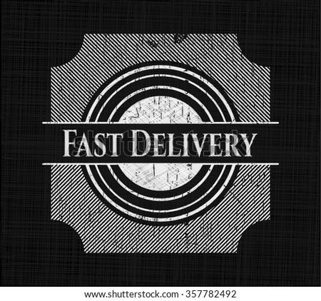 Fast Delivery chalk emblem