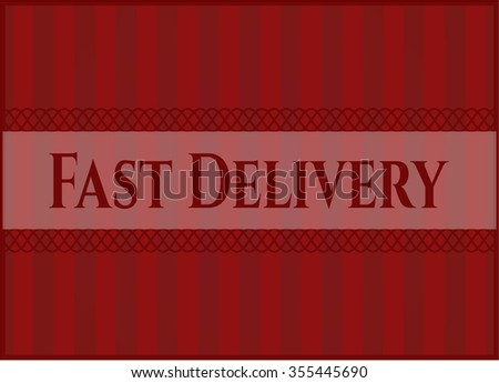 Fast Delivery colorful poster