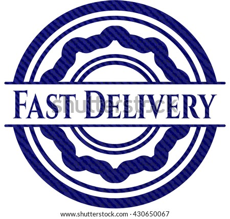 Fast Delivery emblem with denim texture