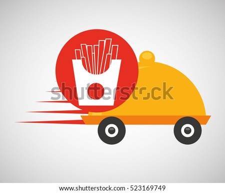 fast delivery food french fries