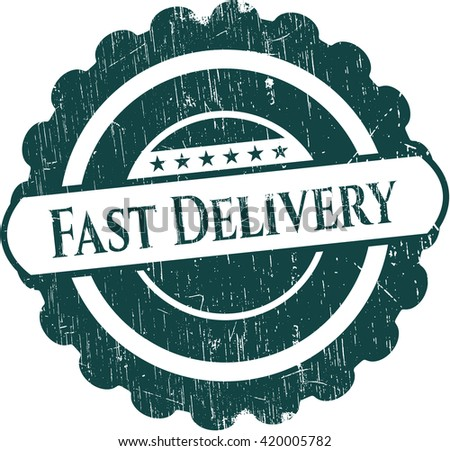 Fast Delivery grunge seal