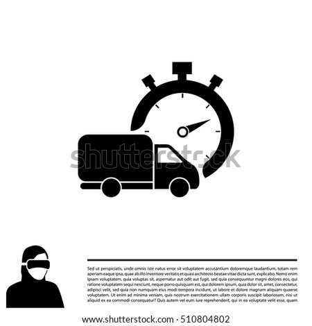 fast delivery icon  silhouette
