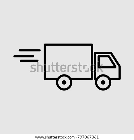 fast delivery icon, truck icon