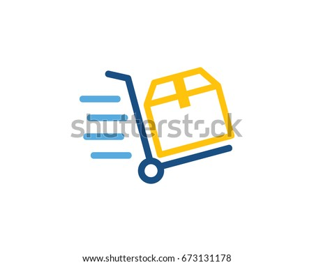 Fast Delivery Logistic Icon Logo Design Element