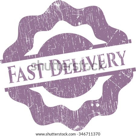 Fast Delivery rubber stamp with grunge texture