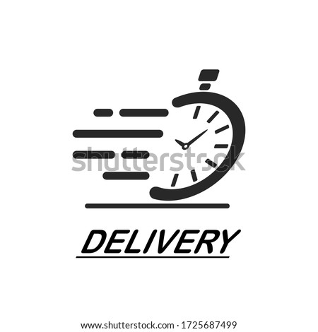 Fast delivery timer icon, fast time logo, vector isolated on white background. Foto stock ©