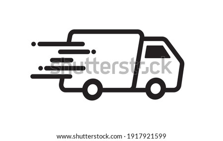 Fast delivery truck icon. Fast shipping. Design for website and mobile apps. Vector illustration.