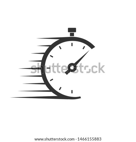 Fast delivery vector icon with timer Stock photo ©