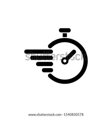 Fast delivery vector icon with timer . Template for your design. Stopwatch icon on white background. Clock and watch, timer, countdown symbol. EPS 10 vector. Stock photo ©