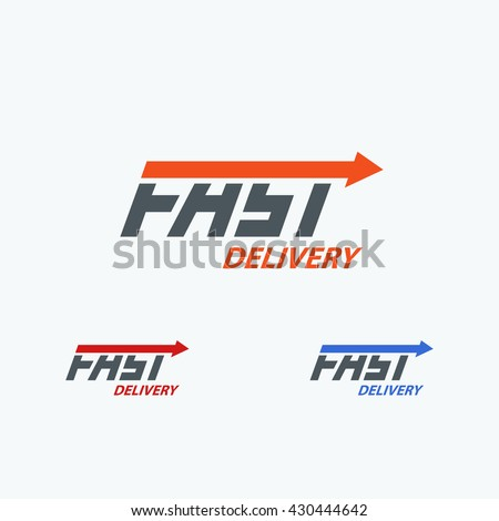 Fast Delivery Vector Logo. Three Color Choices ...
