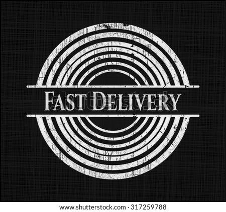 Fast Delivery written on a blackboard