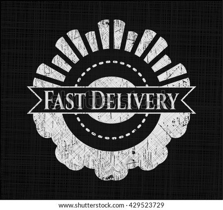 Fast Delivery written with chalkboard texture