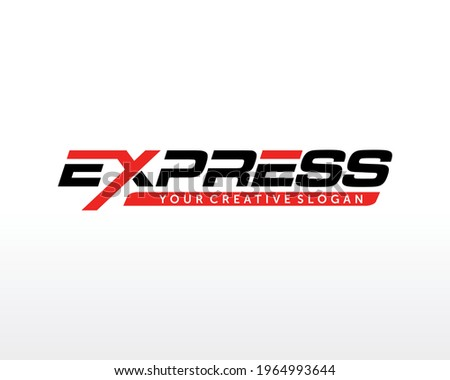 Fast Express Delivery Logo Vector. Simple Express logo Template Design Сток-фото ©