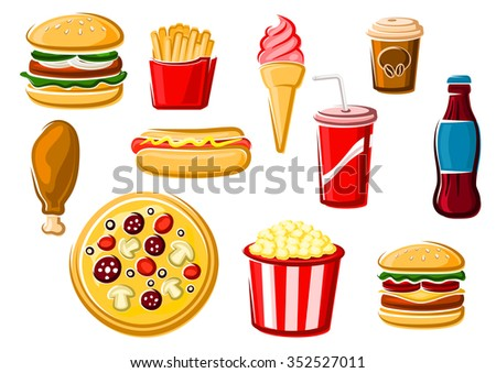 fast food and beverage icons