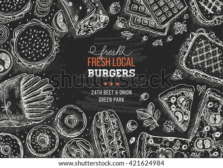 fast food background linear