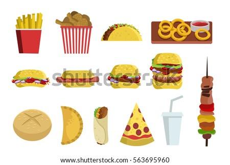fast food burger sandwich pizza