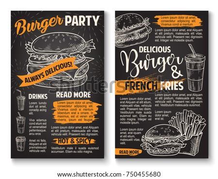 fast food burgers sketch