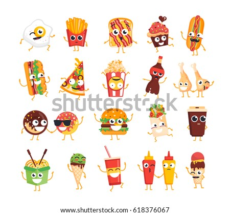 fast food characters   modern