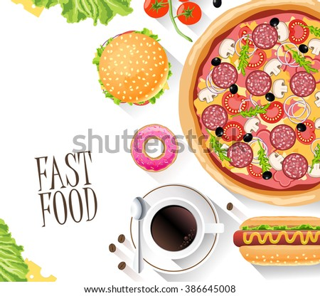 fast food flat banner for
