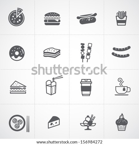 Fast Food Icon Vector Fast Food Icon Set