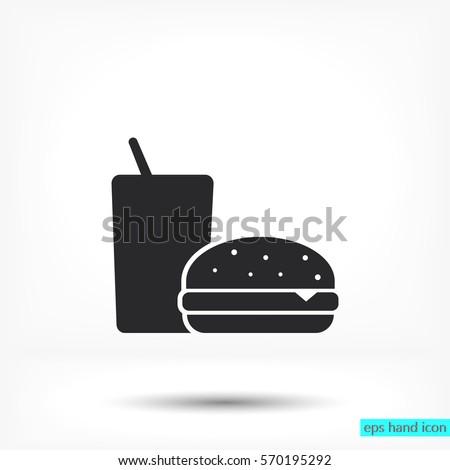 fast food icon vector icon 10