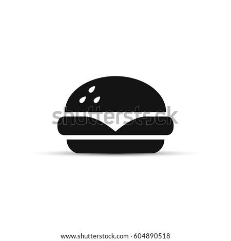 Fast food icon, vector simple black isolated illustration.