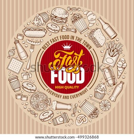 fast food menu template in hand