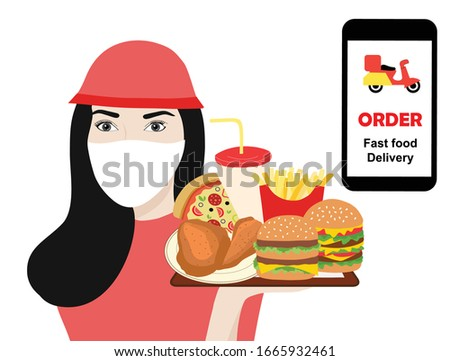 fast food online delivery staff