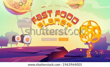 fast food planet cartoon